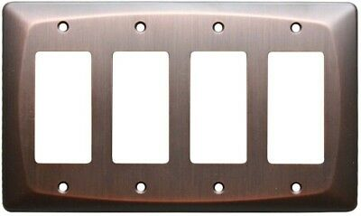 allen + roth Baker Wall Light Switch Plate Quad Rocker GFCI Oil Rubbed Bronze