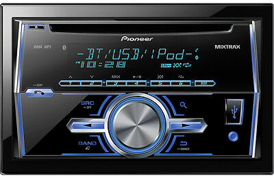 PIONEER FH-X70BT DOUBLE DIN CD MP3 USB BLUETOOTH IPOD CAR STEREO RECEIVER PLAYER