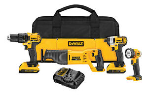 New Dewalt 4 Tool Kit with Batteries and Charger