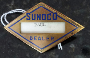 Sunoco Service Station Hat Badge 1940's Metal Gas attendant