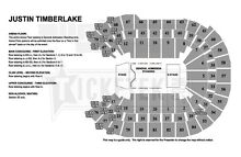 Justin Timberlake - The 20/20 Experience Tour / GOLD GA STANDING Burwood Burwood Area Preview