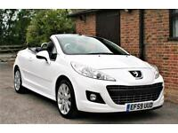 2010 PEUGEOT 207 GT COUPE CABRIOLET.JUST 37000 MILES WITH SERVICE HISTORY.