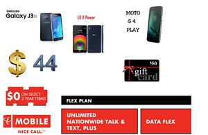 UNLIMITED CANADA WIDE CALLS & TEXTS JUST IN $44 WITH SAMSUNG J3