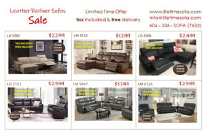 Don't miss out !!!  Huge Saving Recliner sofa & loveseat on Sale