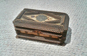 Tramp Art Wood Box  Beautifully made