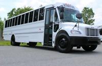 Transport par bus, sorties, activités, partys...