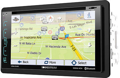 SOUNDSTREAM VRN-65HB DOUBLE-DIN APTIX GPS DVD BLUETOOTH CAR STEREO 6.2