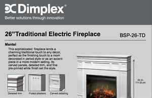 DIMPLEX 26''Traditional Electric Fireplace