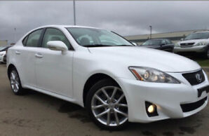 2013 Lexus IS 250 AWD- pearl white