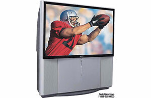 "57"" widescreen HDTV-ready projection TV"