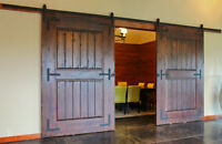 BD-S01 # Powder Coated Steel Modern Barn Wood Sliding Door Hardw