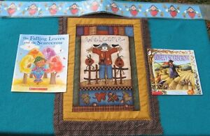 2 books and door hanging and bulletin board border