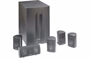 Infinity TSS-450 5 compact satellite speakers and a powered sub