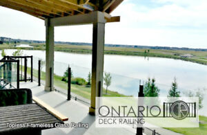 Aluminum and Glass Deck Railing - Ontario Deck Railing Ltd