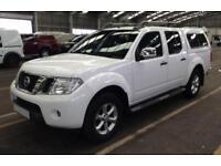 2014 WHITE NISSAN NAVARA 2.5 DCI 4WD TEKNA CREW CAB PICKUP CAR FINANCE FR 41 PW