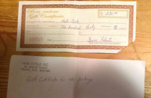 Gift Certificate for Hub Cycle $230 Ski Package or Other