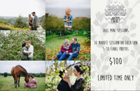 Fall and Christmas Photography Sessions