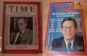 """2 x """"Time"""" Magazines  (November, 1933 & July, 1983 editions)"""