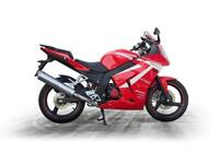 2018 DAELIM VJF125 ROADSPORT..54.55 OVER 48M WITH A 99 POUNDS DEPOSIT. 9.9% APR