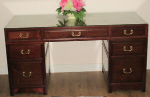 ROSEWOOD  RARE SOLID HAND-CRAFTED DESK