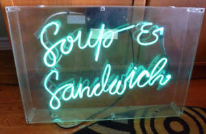 Neon SOUP & SANDWICH Sign Great for Cafe or Retro Kitchen