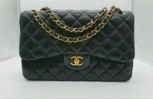 Chanel Classic Jumbo Double Flap Lambskin Gold Hardware Handbag