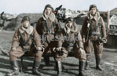 WW2 Photo Japanese fighter pilots of 244th Sentai Air Base Tokyo 1944 (Ww2 Fighter Pilots)