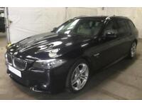 2016 BLACK BMW 520D TOURING 2.0 M SPORT DIESEL AUTO 5DR CAR FINANCE FR £67 PW