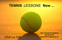 OUTDOOR TENNIS LESSONS now IN DOWNTOWN MONTREAL