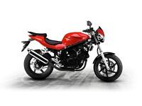 HYOSUNG GT125 125cc V-TWIN NAKED STREET FIGHTER LEARNER LEGAL MOTORBIKE