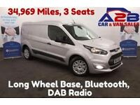 2015 15 FORD TRANSIT CONNECT TREND 1.6 240 P/V 115 BHP 34,969 MILES, LONG WHEEL