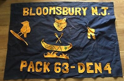 Lot Of 2 Vintage Cub Boy Scouts Flag Banner Bloomsbury New Jersey NJ