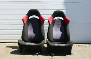 JDM SUBARU GC8 WRX STI (V-4) FRONT SEATS WITH RAILS (1993-2001)