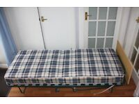 Folding Single Visitor Z Guest bed with Mattress and Headboard (2 identical for sale)