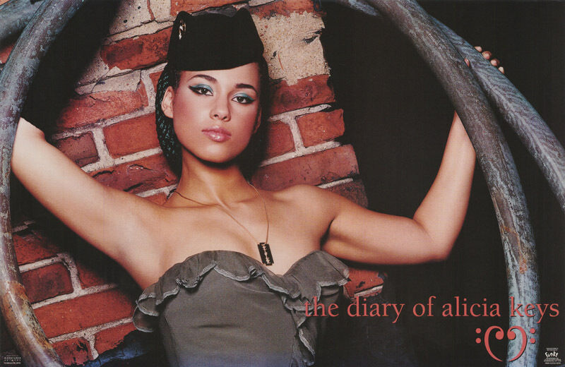 POSTER - MUSIC :  ALICIA KEYS - DIARY OF ALICIA KEYS - FREE SHIP!  #9094  RC3 O