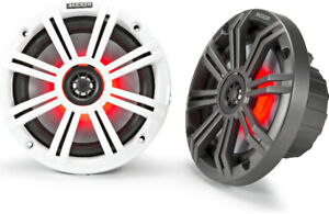 "Kicker KM654L 6-1/2"" 2-way marine speakers with LED lighting"