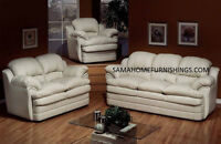 End of the month special brand new leather sofa on sale save BIG