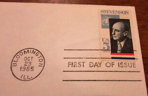 1965 Adlai Stevenson in Memoriam 5 Cent First Day Cover Kitchener / Waterloo Kitchener Area image 4