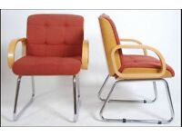 Pair of retro Eames style Bentwood Armchairs