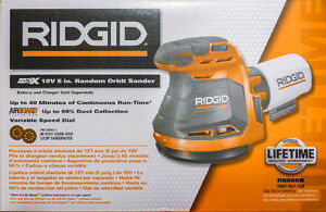 *NEW*RIGID 18-Volt 5 inch Cordless Random Orbit Sander Hand Palm