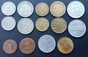 German 14 coins from 1875 - 1939