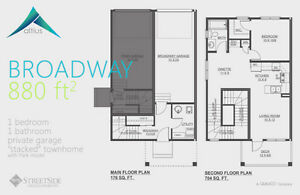 Altius Townhouses/1502sq.ft/3Bedroom/2.5Bath/Double Att.Garage Edmonton Edmonton Area image 3
