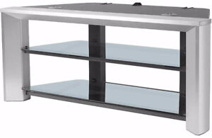 SONY Glass Tv Stand ~ Like New ~ 44 Inches x 20 x 18 Inches