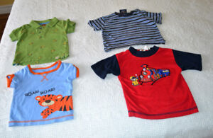 Size 12 months, short sleeved tee shirts, $1.00 each