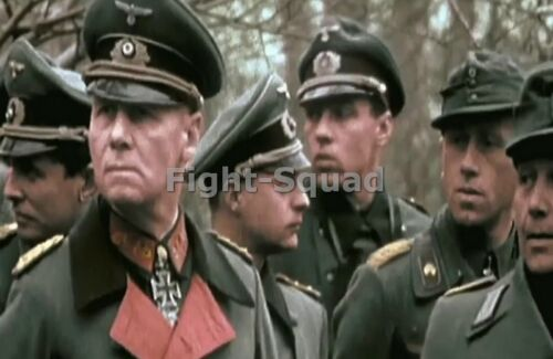 WW2 Picture Photo General Rommel with his staff 3066