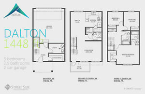 Altius Townhouses/1502sq.ft/3Bedroom/2.5Bath/Double Att.Garage Edmonton Edmonton Area image 6