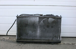 JDM MITSUBISHI EVO-4 OEM MANUAL RADIATOR WITH FAN (96-98)