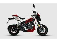 SINNIS AKUMA 125 MOTORCYCLE, BRAND NEW, 2 YEARS PARTS WARRANTY (ATMOTORCYCLES)