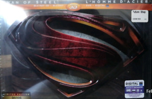 MAN OF STEEL 3D BLU-RAY STEELBOOK RARE LIMITED EDITION #00306