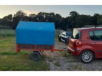 """Trailer Brenderup 5'6"""" x 4' brilliant little trailer with full canopy tows lovely. Exeter"""